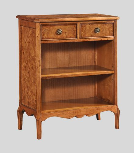 Bookcase with 2 Drawers in Burr Walnut